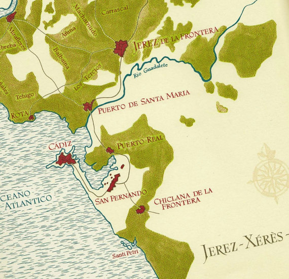 sherry wine map