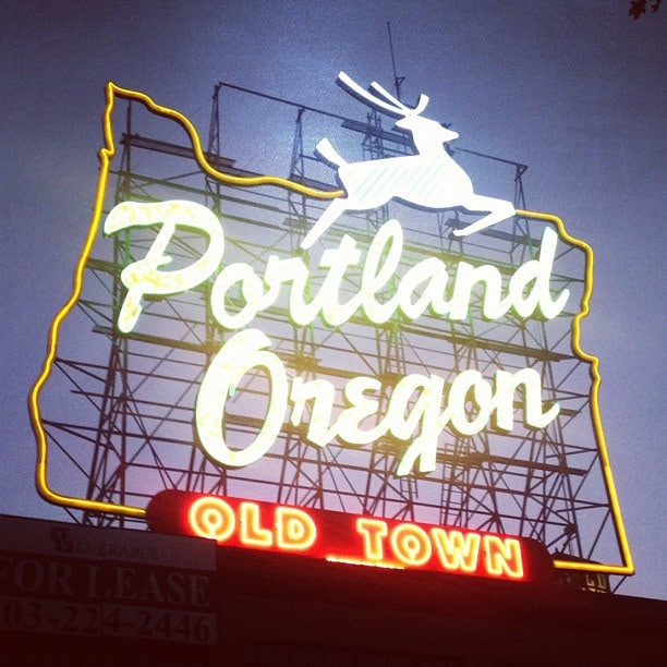 portland or old town sign
