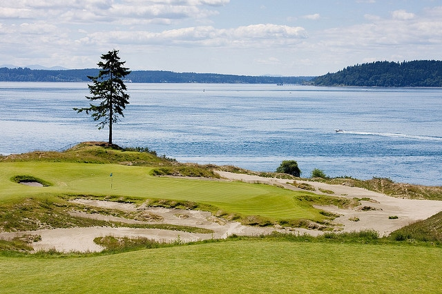 15th hole chambers bay