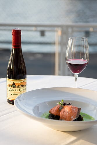 chateau thivin and salmon
