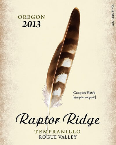 raptor ridge tempranillo