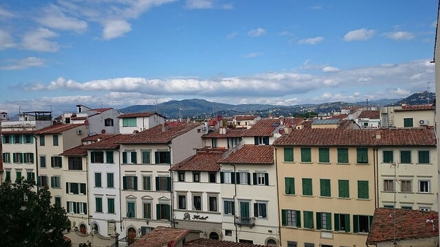 view from florence apartment