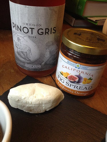 fossil and fawn pinot gris with figs