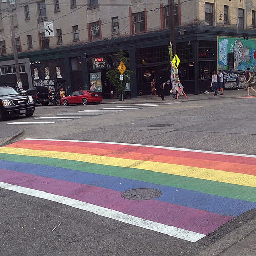 capitol hill seattle pride crosswalks