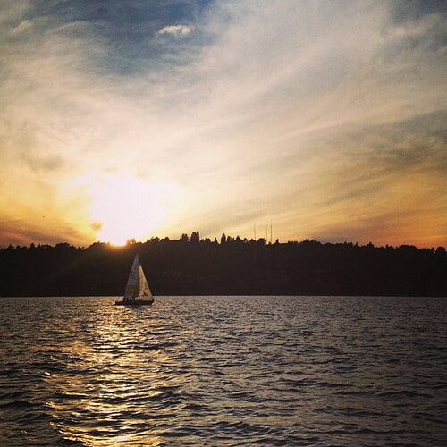 lake washington sunset seattle