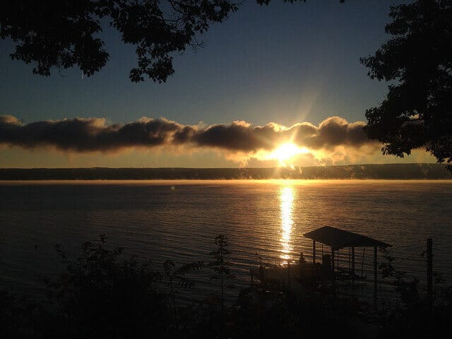 sunrise seneca lake
