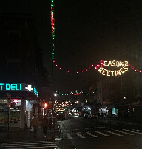 Greenpoint Brooklyn Holiday Lights
