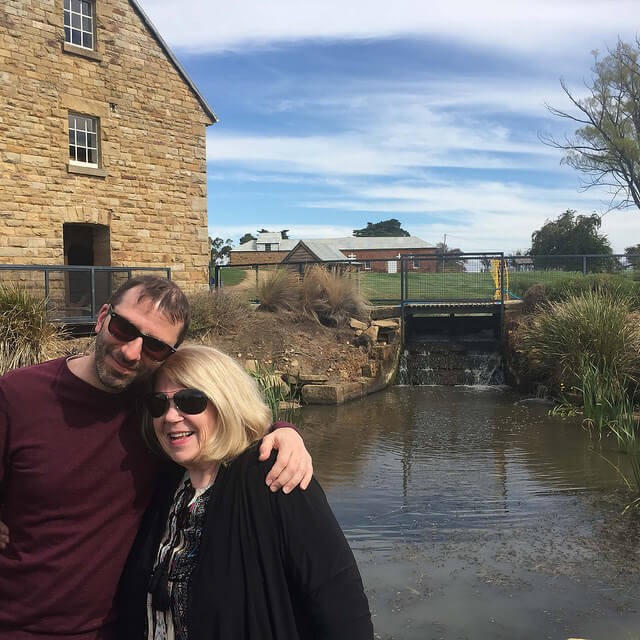 Me and My Mom at Nant Distilling in Tasmania.