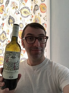 me and wine bottle