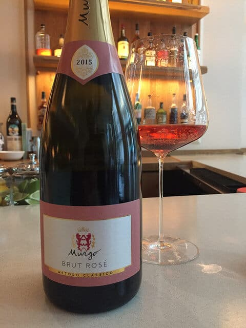 Murgo Brut Rosé made from Nerello Mascalese.