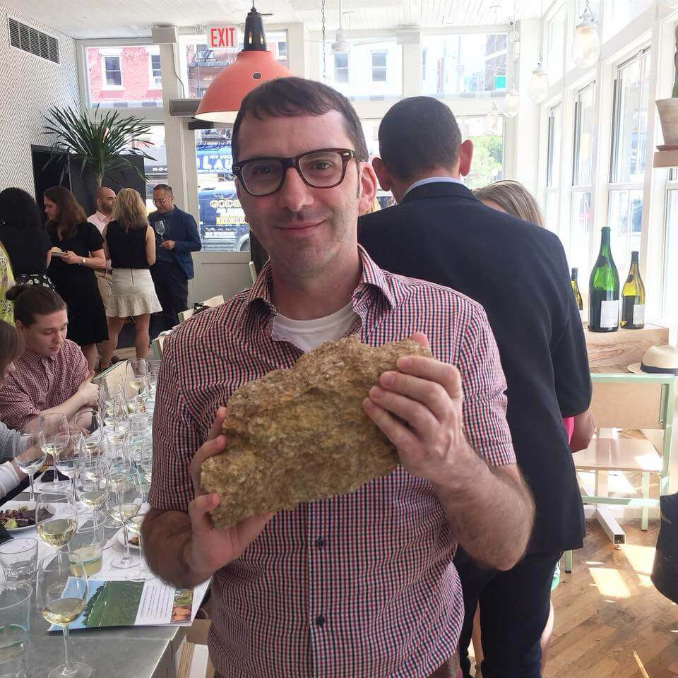 Chablis terroir at an event right before a guest appearance on the Wine Two Five podcast.