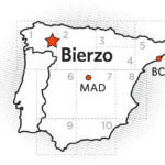 A map of the Bierzo wine region.