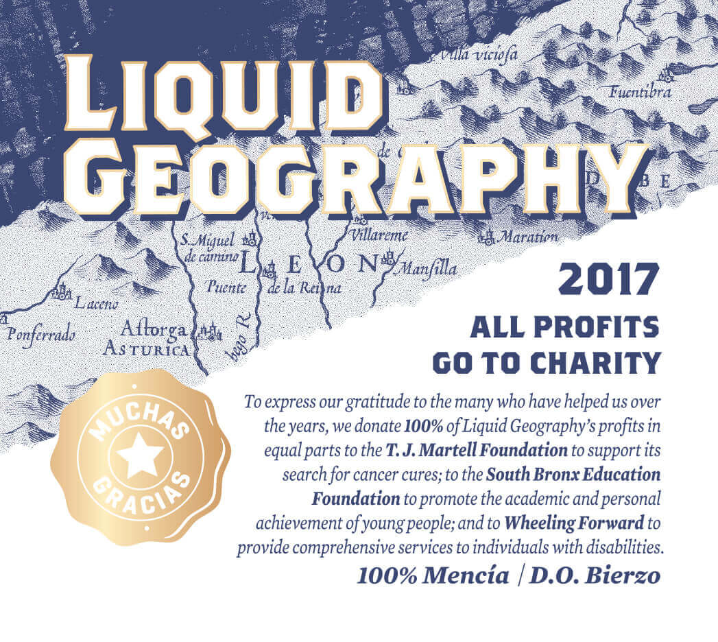 Wine Label for the Liquid Geography rosé.