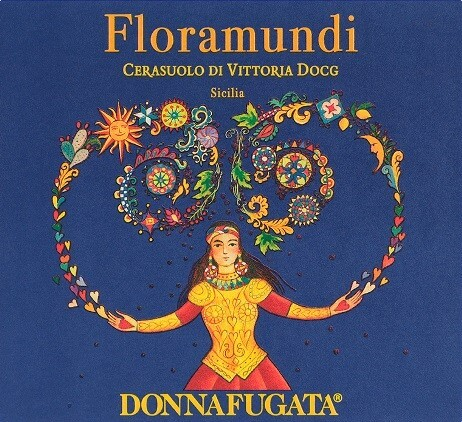 The label for the Donnafugata Floramundi wine from Sicily.