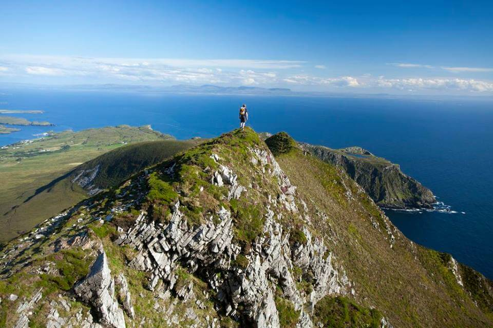 The Slieve League Cliffs in Ireland.