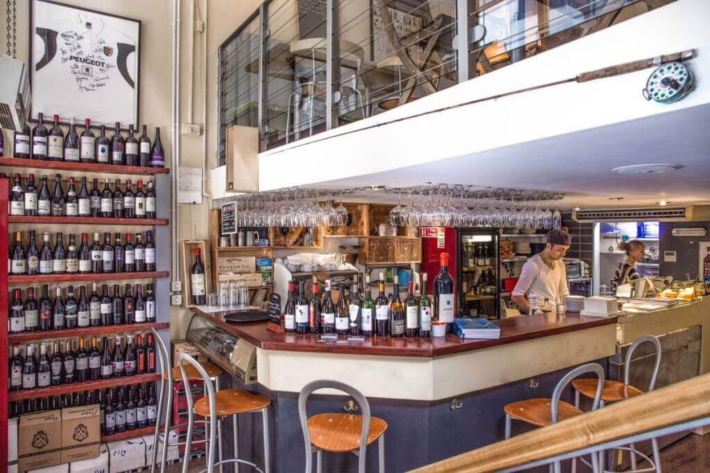 Inside view of Piglet Wine Bar