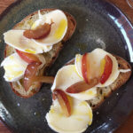 mozzarella with plums on toast