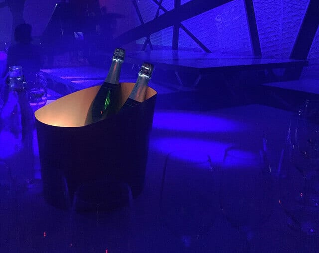 Champagne Henriot illuminated at National Sawdust.