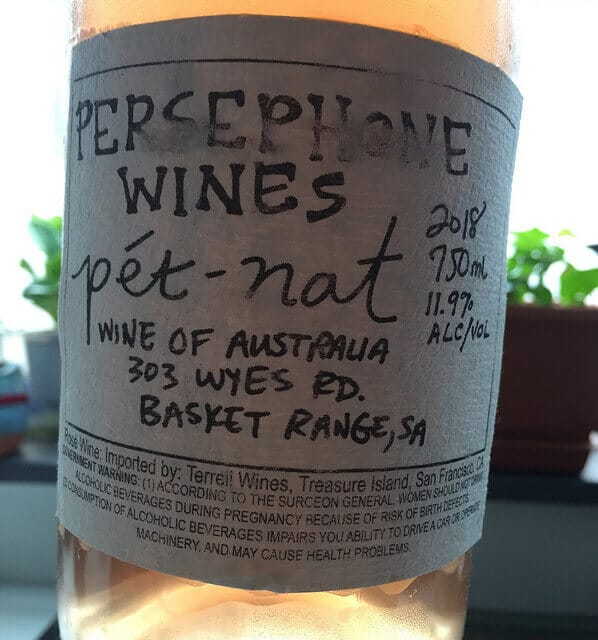 Looking for the perfect afternoon fizz? It's the Persephone Wines Pét-Nat.