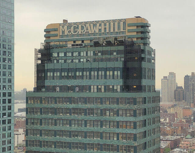 The Art Deco McGraw-Hill Building, as seen from the Aliz Hotel.