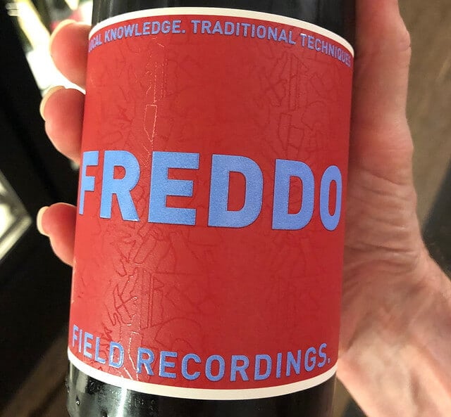 Field Recordings Freddo Sangiovese is a red wine to chill.
