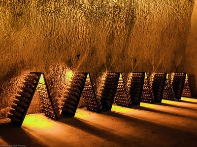 Champagne goes through a secondary ferment in the bottle.