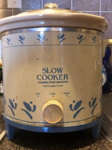 My vintage slow cooker.