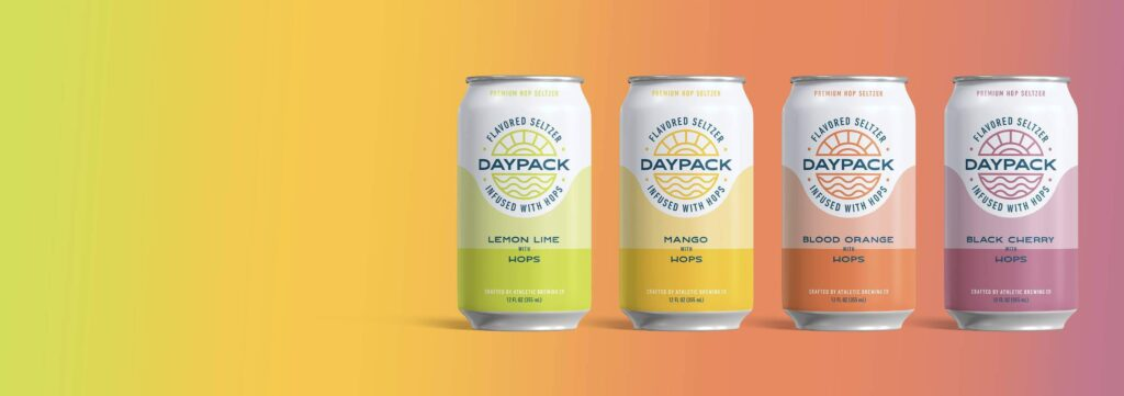 Four varieties of Daypack seltzers, infused with hops.